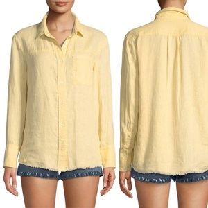 Frame golden haze Frayed hem button down shirt xs
